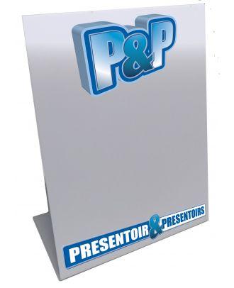 Chevalet de comptoir A3 portrait PILA3 personnalisé