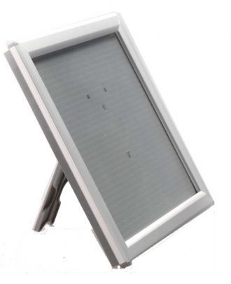 Cadre porte visuel A5 comptoir gris