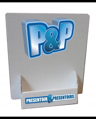 Présentoir de cartes de visite en carton personnalisé PRSTCART