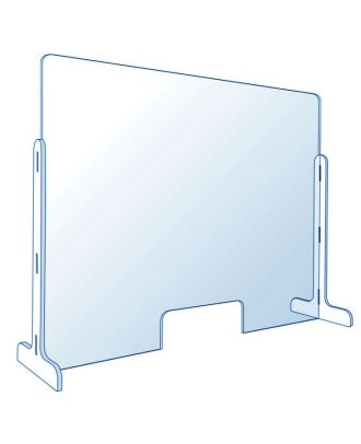 Vitre de protection en plexiglas pour comptoir 100 x 70 cm