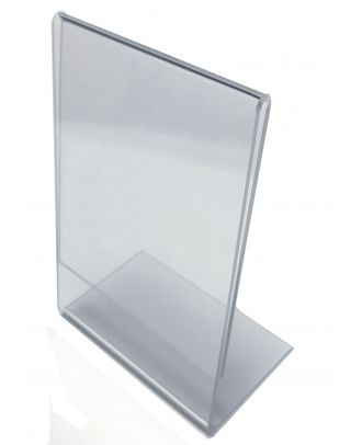 Porte étiquette plexi incliné 60 x 90 mm vertical