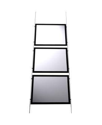 Kit 3 porte-affiches A3 LED horizontal KT3LEDA3H vide