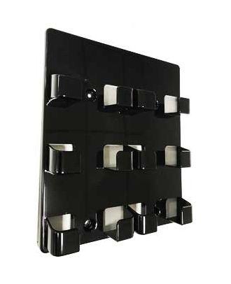 Porte cartes de visite mural noir 6 compartiments PPMURBLK6 de coté