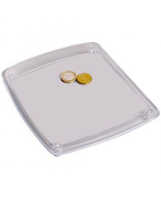 Ramasse Monnaie transparent à personnaliser avec pièces