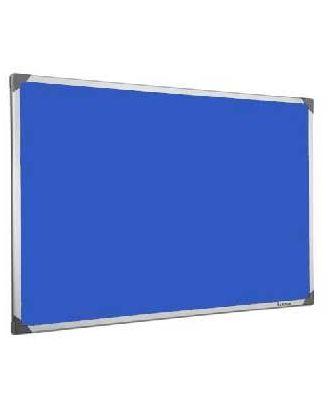 Tableau en feutrine bleu 90 x 120 cm cadre alu