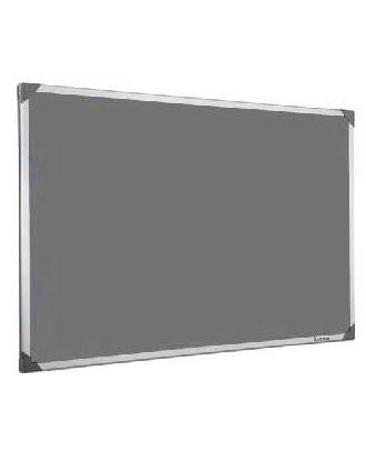 Tableau en feutrine grise 45 x 60 cm cadre alu