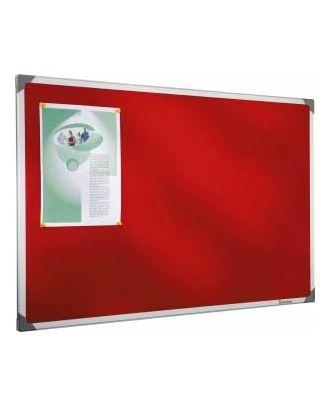 Tableau en feutrine rouge 90 x 120 cm cadre alu