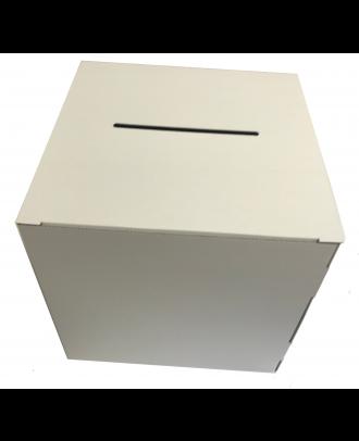 Urne carton blanche vierge 20 x 20 x 20 cm