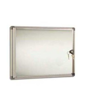 Vitrine intérieure fond métal AGL 3A4 horizontal